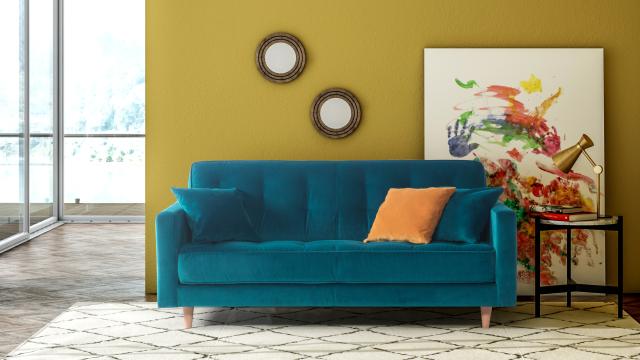 canape convertible bleu top canap convertible bleu l gant. Black Bedroom Furniture Sets. Home Design Ideas